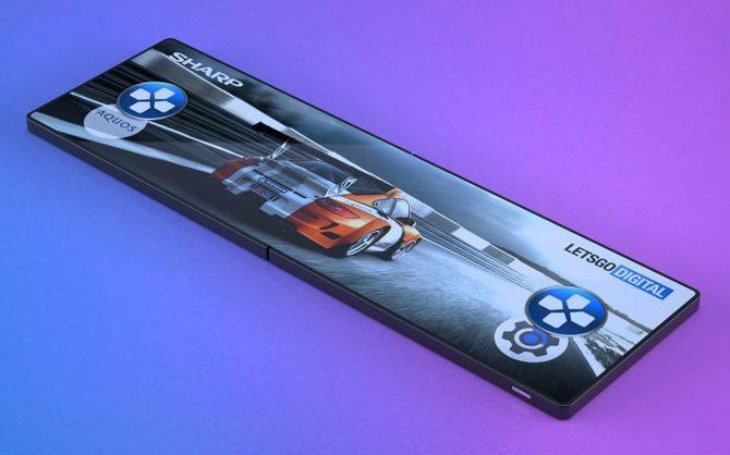 Sharp - patent na składany smartfon, niczym gamingowy handheld [1]