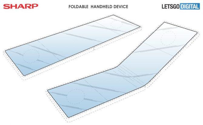 Sharp - patent na składany smartfon, niczym gamingowy handheld [2]