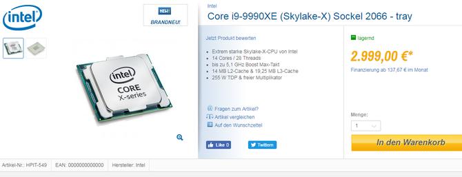 Intel Core i9-9990XE trafił do normalnej sprzedaży. Cena zabija [2]