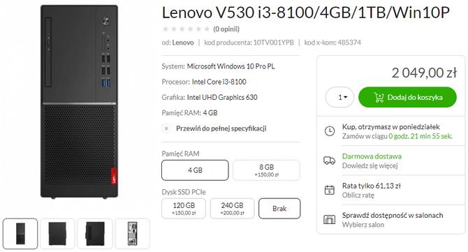 Nowe desktopy biznesowe Lenovo w x-kom. Poznaj Lenovo V530 [2]