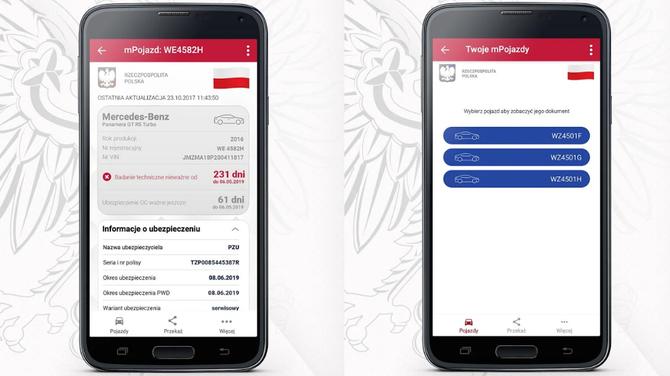 mPojazd: Dowód rejestracyjny i ubezpieczenie OC na smartfonie [2]
