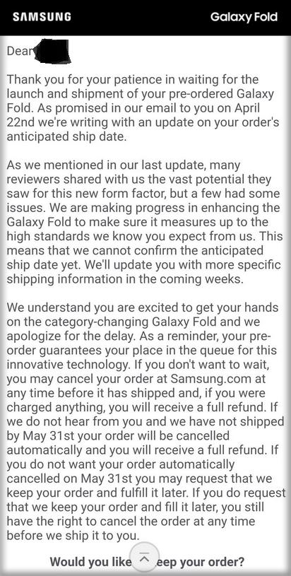 Samsung proponuje anulowanie zamówień na Galaxy Fold [4]