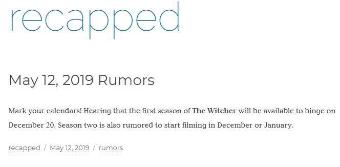 Serial Wiedźmin - przeciek o dacie premiery i informacje o 2. sezonie [3]