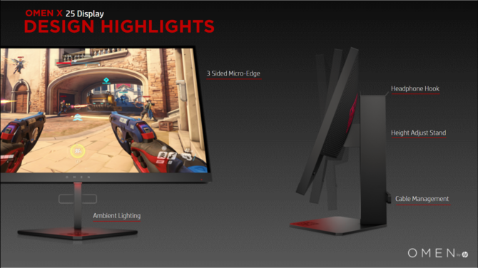 OMEN X 25 i OMEN X 25f - nowe gamingowe monitory 240 Hz [1]