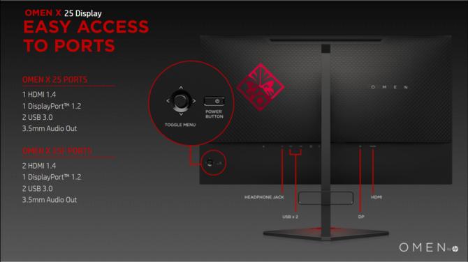 OMEN X 25 i OMEN X 25f - nowe gamingowe monitory 240 Hz [2]