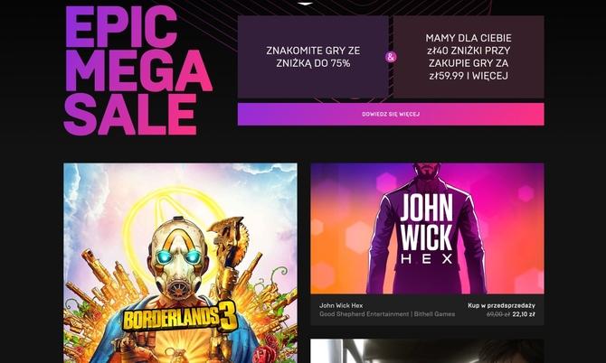 Epic Mega Sale - zniżki na wszystkie gry dostępne w sklepie [1]