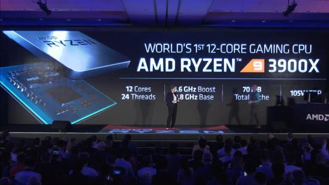 AMD Ryzen 9 3900X oficjalnie - 12 rdzeni i 24 wątki w cenie 499 USD [1]