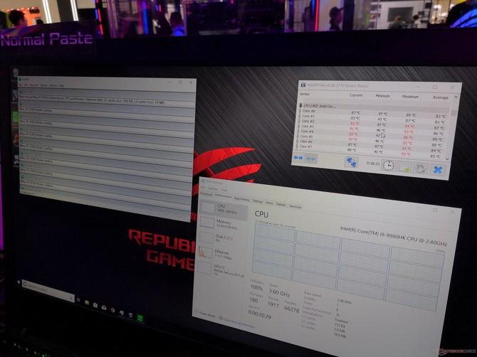 ASUS pokazał działanie ciekłego metalu na Intel Core i9-9980HK [3]