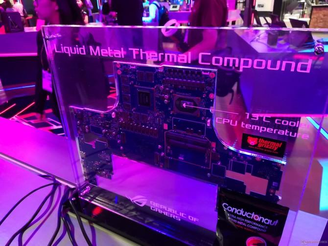 ASUS pokazał działanie ciekłego metalu na Intel Core i9-9980HK [4]