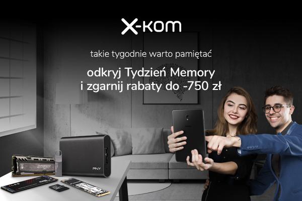 Tańsze dyski SSD, pamięci RAM, pendrive i karty pamięci w x-kom [1]