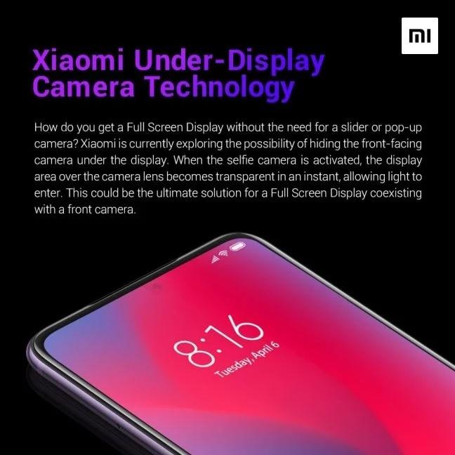 Xiaomi i Oppo pracują nad aparatem do selfie pod ekranem [1]