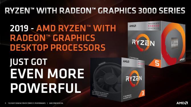 AMD Ryzen 3 3200G i Ryzen 5 3400G - znamy specyfikację i ceny APU [1]
