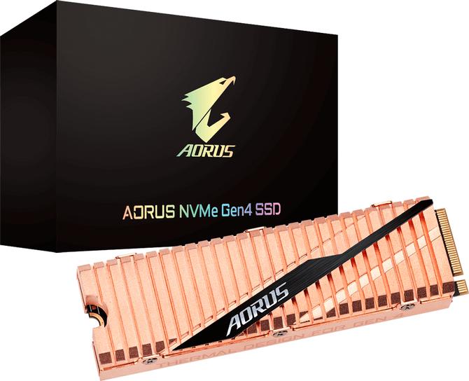 Gigabyte AORUS NVMe - SSD PCIe 4.0 z miedzianym radiatorem  [1]