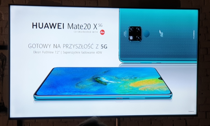 Huawei Mate 20X 5G - premiera nowego smartfona 5G w Polsce [6]