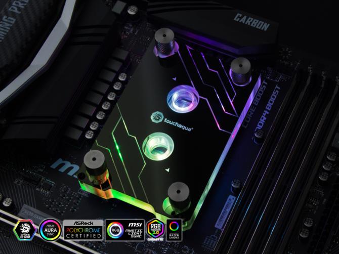 Bitspower Touchaqua - Blok wodny z RGB LED dla AMD AM4  [1]