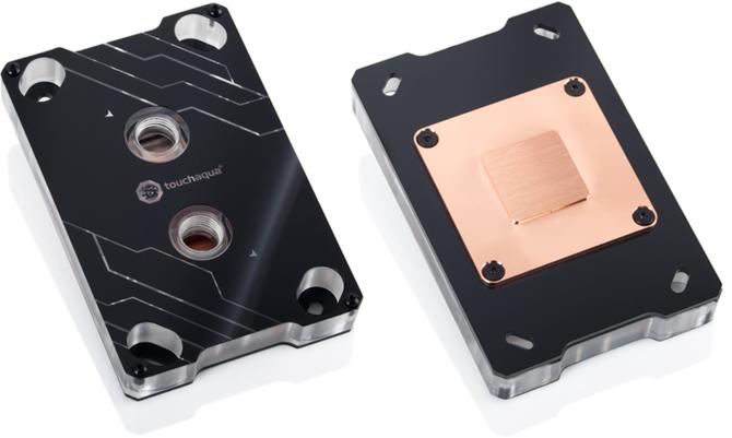 Bitspower Touchaqua - Blok wodny z RGB LED dla AMD AM4  [2]