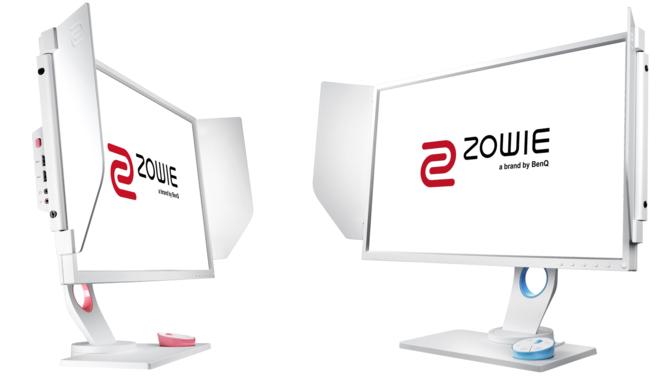 Białe e-sportowe monitory Zowie XL2546 Divina Pink i Blue [1]