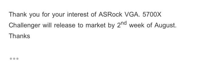 ASRock RX 5700 XT Challenger dostępny już w połowie sierpnia [1]