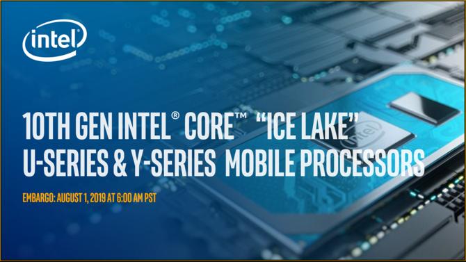 Intel Ice Lake - oficjalna prezentacja 10 nm mobilnych procesorów  [1]