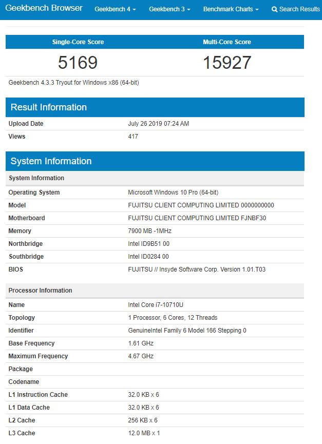 Intel Core i7-10710U - niskonapięciowy procesor z 6 rdzeniami [2]