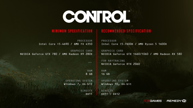 Wymagania sprzętowe gry Control zostały znacznie obniżone [2]