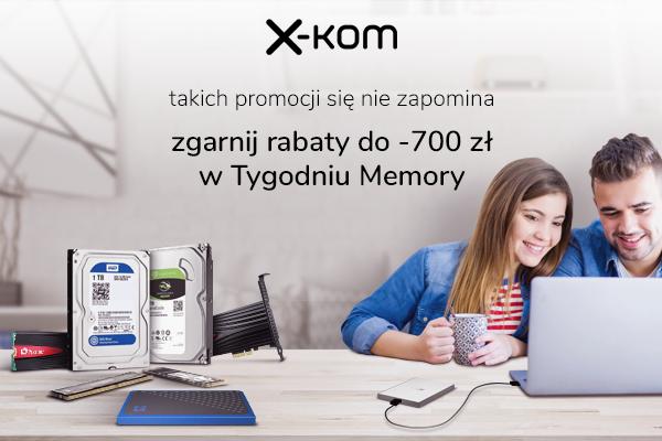 Tańsze dyski SSD, pamięci RAM, pendrive i smartfony w x-kom [1]