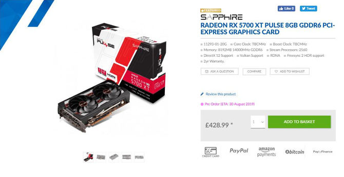 AMD Radeon RX 5700 XT - Znamy ceny pierwszych autorskich modeli  [3]