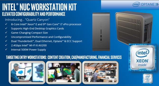 Intel NUC Quartz Canyon - nowe desktopy z układami Core i Xeon [1]