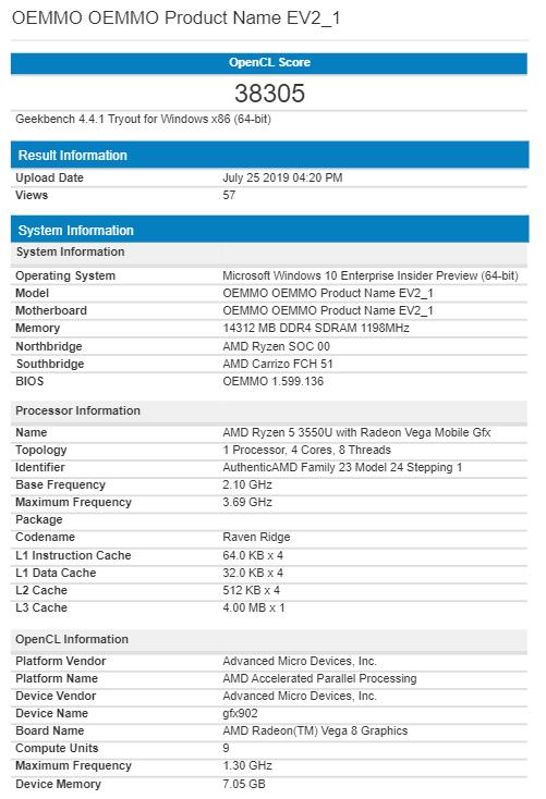AMD Ryzen 5 3550U z ulepszonym układem graficznym Vega 9 [2]