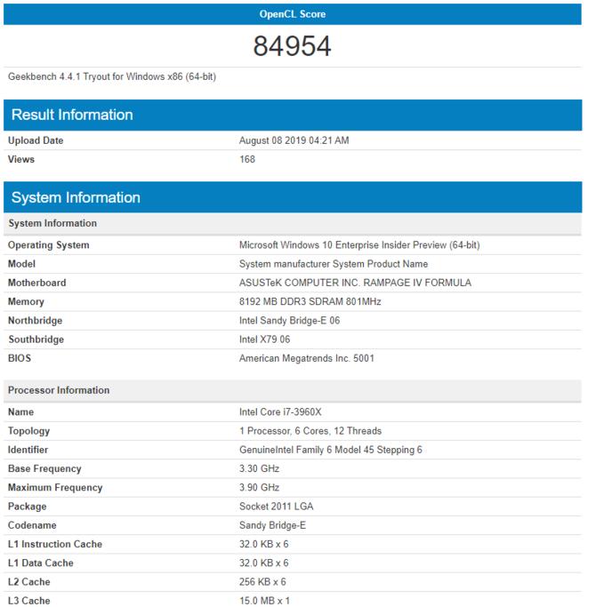 AMD Vega 12 w odświeżonej wersji pojawiła się w GeekBench [3]