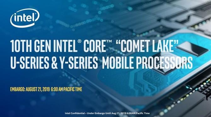 Intel Core i7-10710U z mocą jednego wątku na poziomie i7-9750H [1]