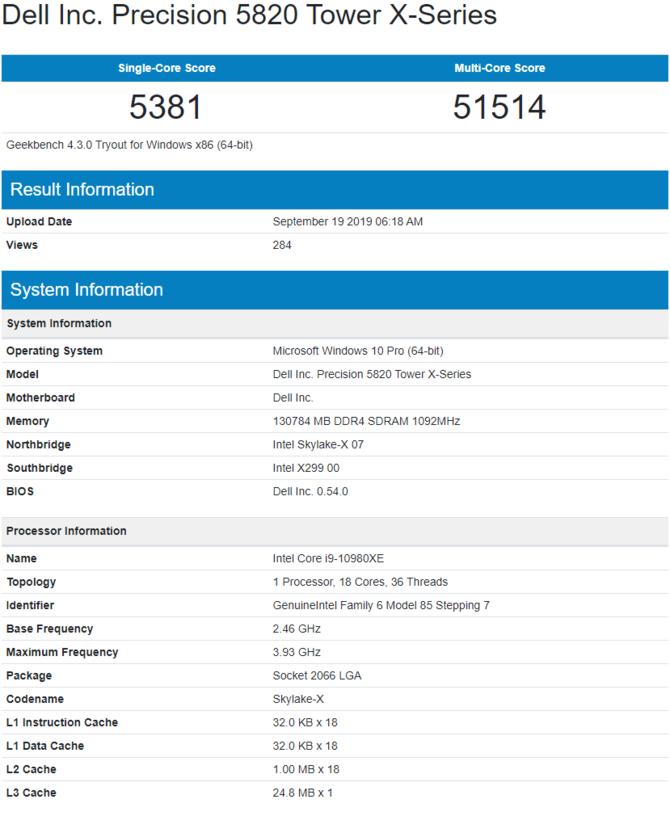 Intel Core i9-10980XE - pierwsze testy 18-rdzeniowego procesora [2]