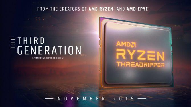 Procesory AMD Threadripper 3 generacji zadebiutują w listopadzie [1]
