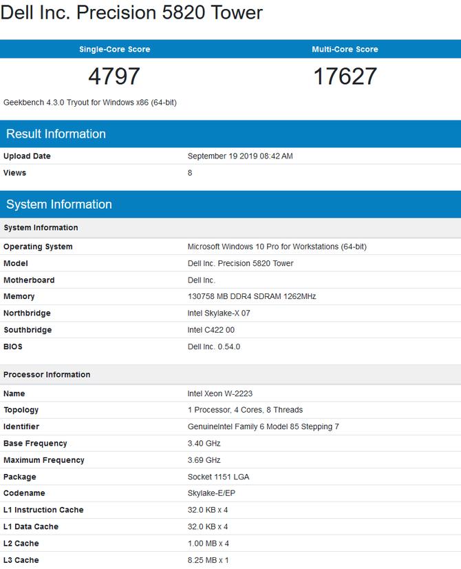 Intel Core i9-10920X oraz Xeon W-2295 z pierwszymi testami [4]