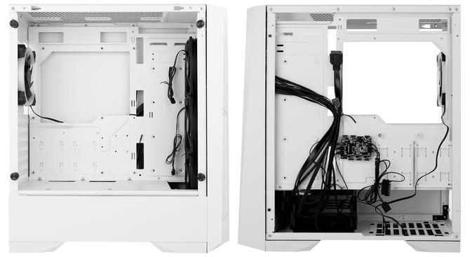 Antec Dark Phantom DP501 - Biała obudowa z oknem i RGB LED  [2]