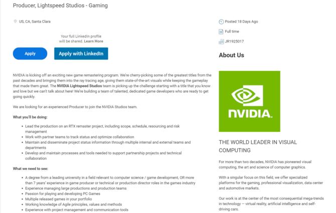 NVIDIA będzie remasterować klasyczne gry, dodając ray-tracing [2]