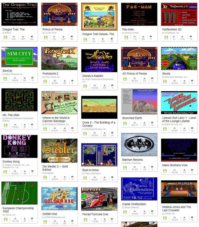 2500 klasycznych gier MS-DOS za darmo w Internet Archive [1]