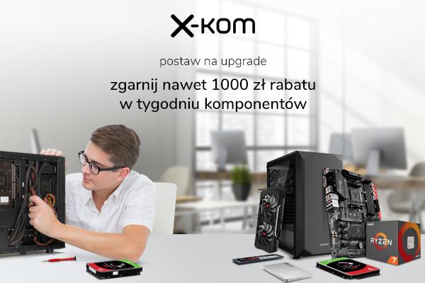 Tańsze karty graficzne, procesory, pamięci i dyski w sklepach x-kom [1]