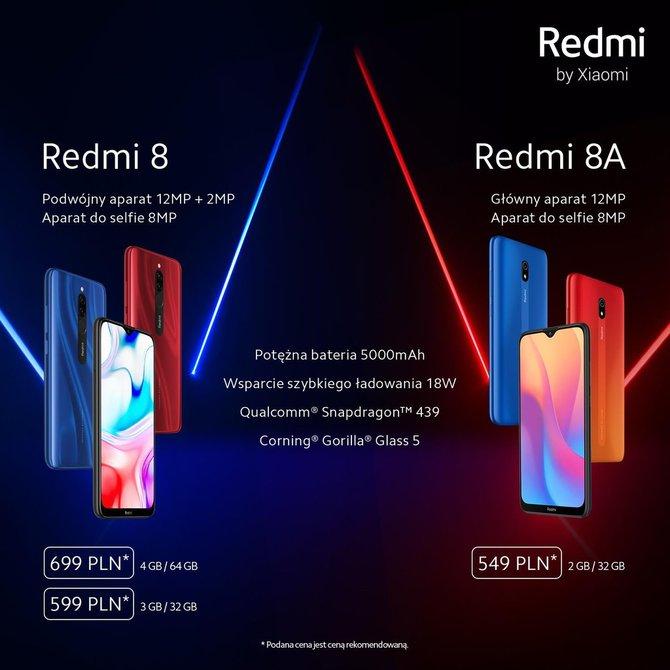 Redmi 8 i Redmi 8A debiutują w Polsce, znamy ceny smartfonów [1]