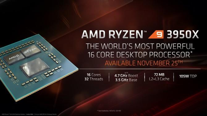 AMD Ryzen 9 3950X zadebiutuje w sklepach pod koniec miesiąca [1]