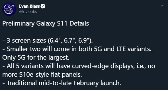 Samsung Galaxy S11 - wyciekły kluczowe informacje o smartfonie [2]