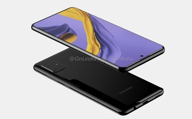 Samsung Galaxy A51 pozuje na pierwszych renderach [2]
