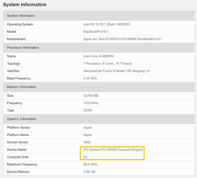 AMD Radeon Pro 5500M - dopakowana wersja Navi 14 w laptopach [2]