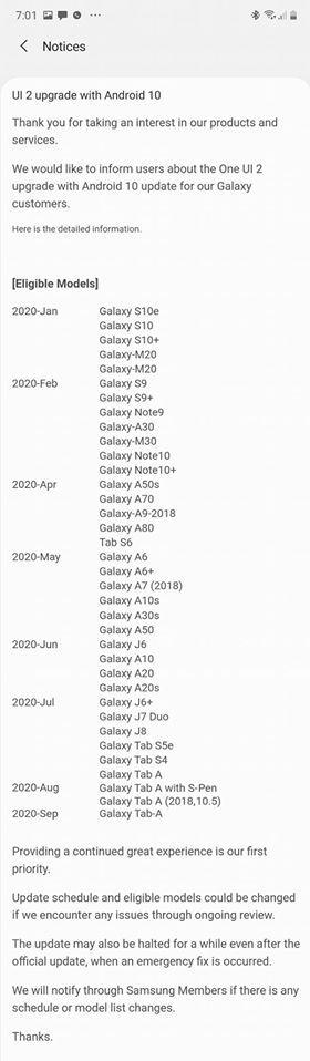 Samsung ujawnił listę smartfonów z aktualizacją do Androida 10 [2]
