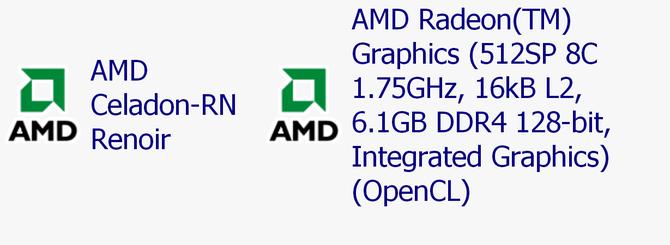 AMD Renoir - mobilny układ z 8 rdzeniami i Vegą 8 odkryty w sieci [2]