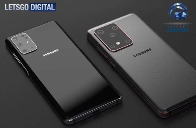 Aparat Samsunga Galaxy S11+ na oficjalnej grafice. Spora wysepka [2]