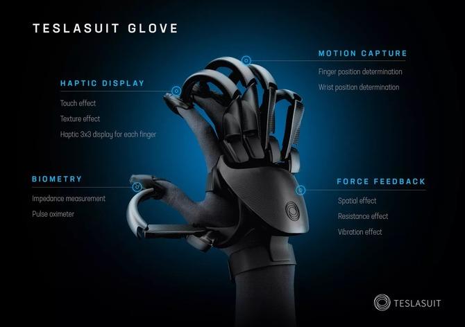 Teslasuit Glove - rękawica VR symuluje zmysł dotyku i mierzy puls [3]