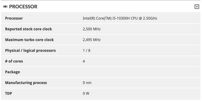 Intel Core i5-10300H - procesor Comet Lake-H dla notebooków [2]