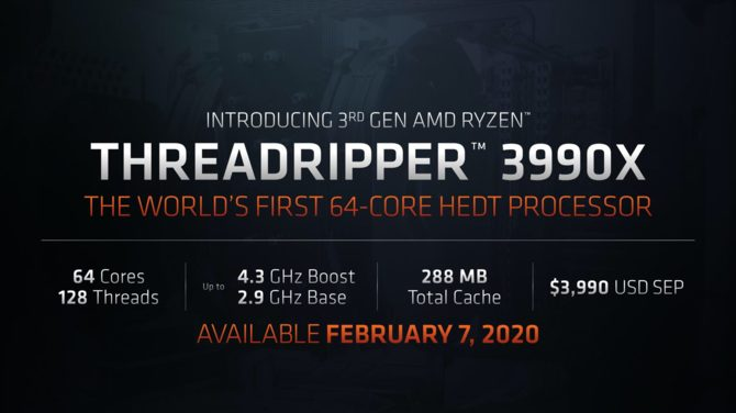 AMD Ryzen Threadripper 3990X - 64-rdzeniowy kolos za 3990 USD [1]