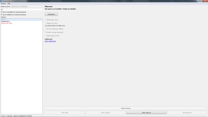 GameAssistant: program na Steam do konfiguracji i usprawniania gier [4]